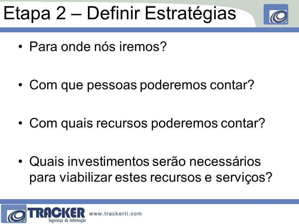 Etapa 2 – Definir Estratégias