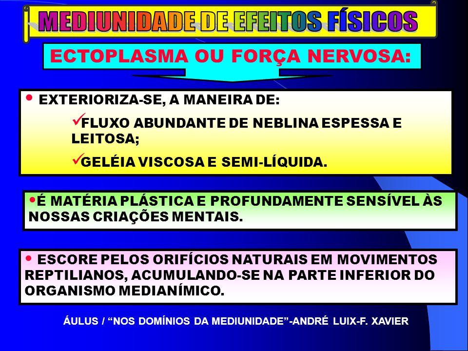 MEDIUNIDADE DE EFEITOS FÍSICOS