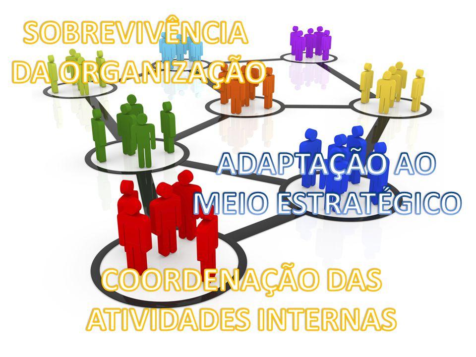 SOBREVIVÊNCIA DA ORGANIZAÇÃO ADAPTAÇÃO AO MEIO ESTRATÉGICO COORDENAÇÃO DAS ATIVIDADES INTERNAS