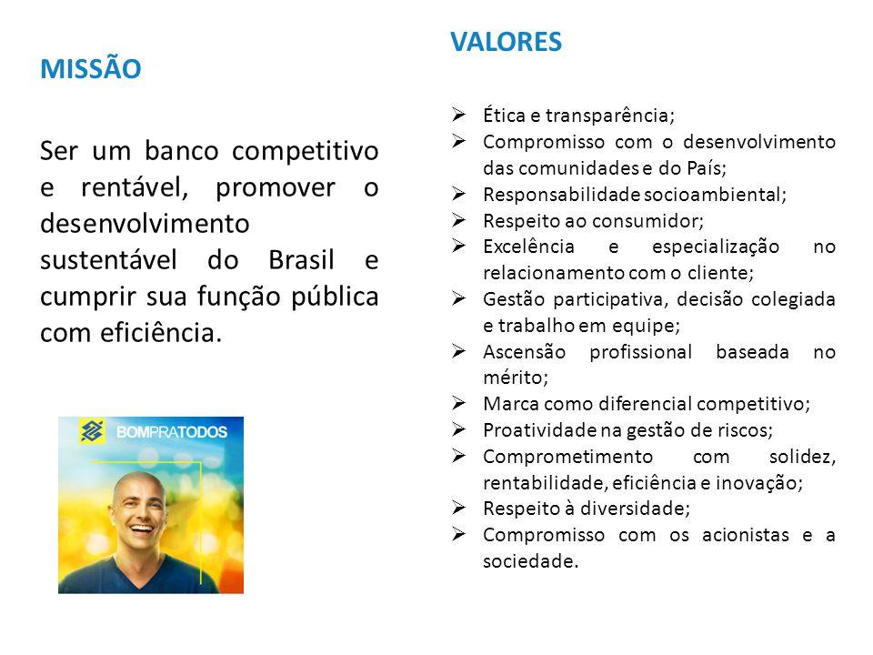 VALORES Ética e transparência; Compromisso com o desenvolvimento das comunidades e do País; Responsabilidade socioambiental;