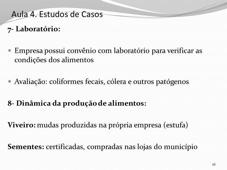 Aula 4. Estudos de Casos 7- Laboratório: