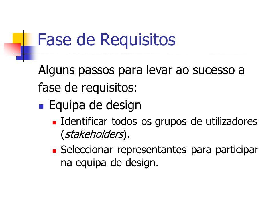 Fase de Requisitos Alguns passos para levar ao sucesso a