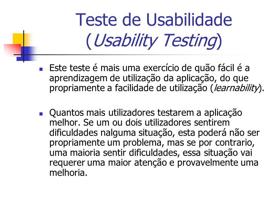 Teste de Usabilidade (Usability Testing)