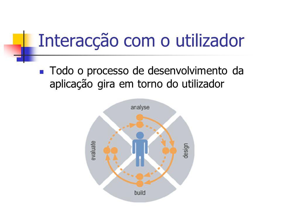 Interacção com o utilizador