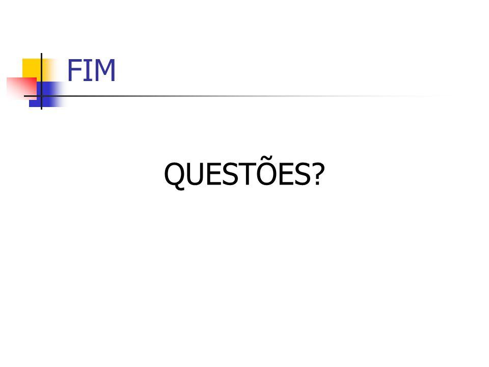 FIM QUESTÕES