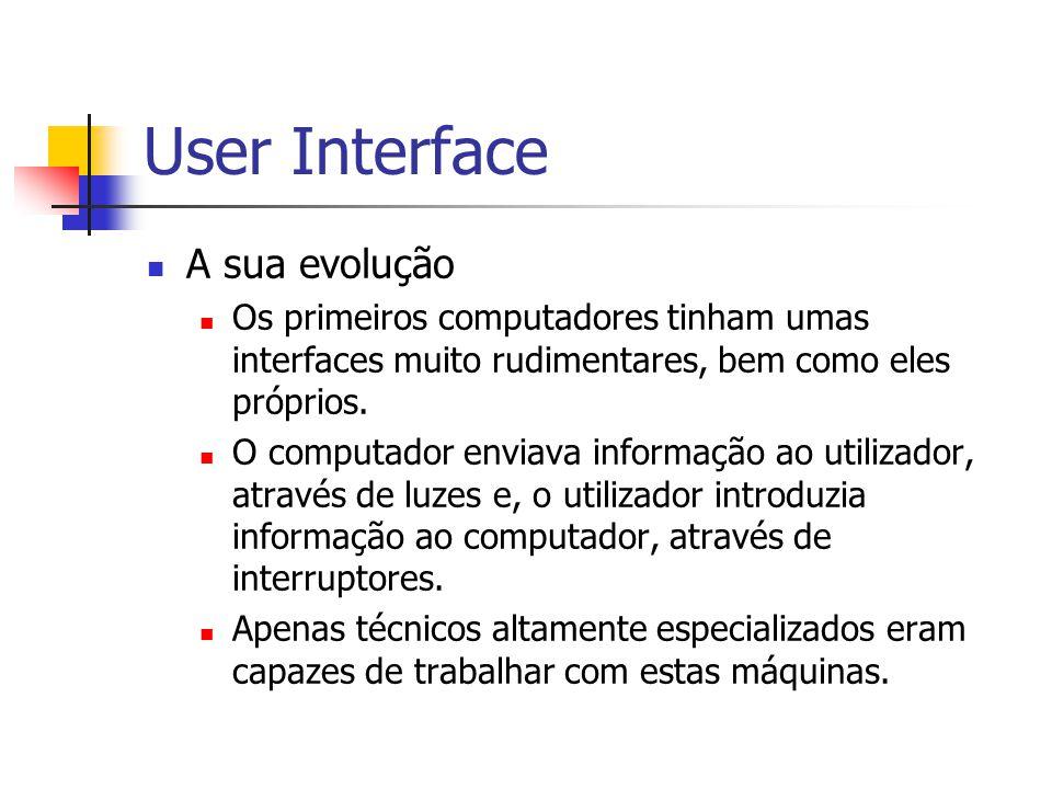 User Interface A sua evolução
