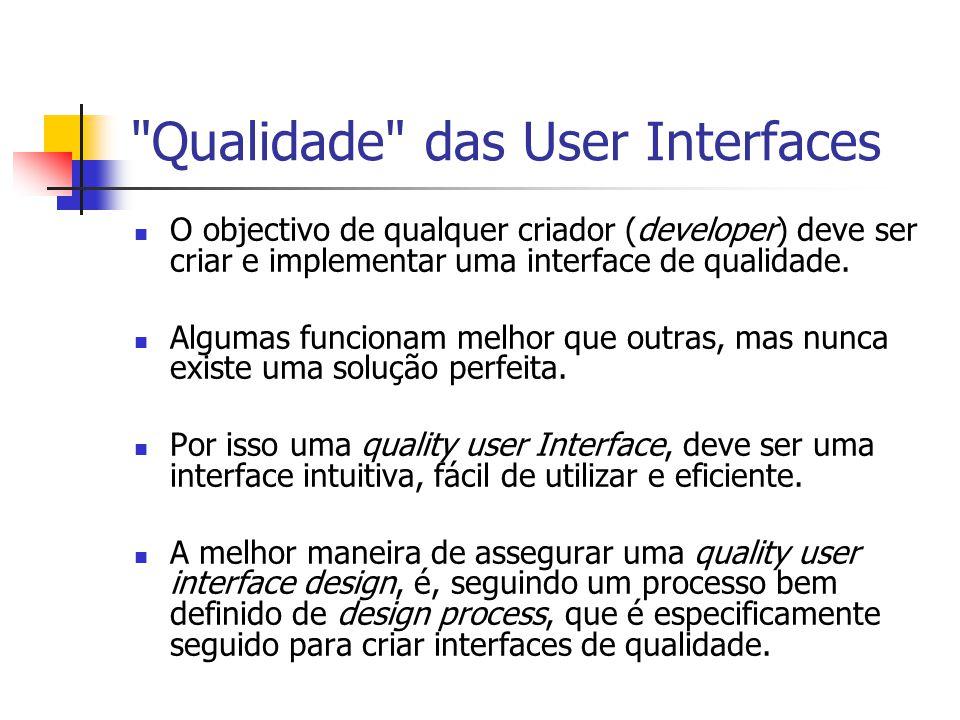 Qualidade das User Interfaces