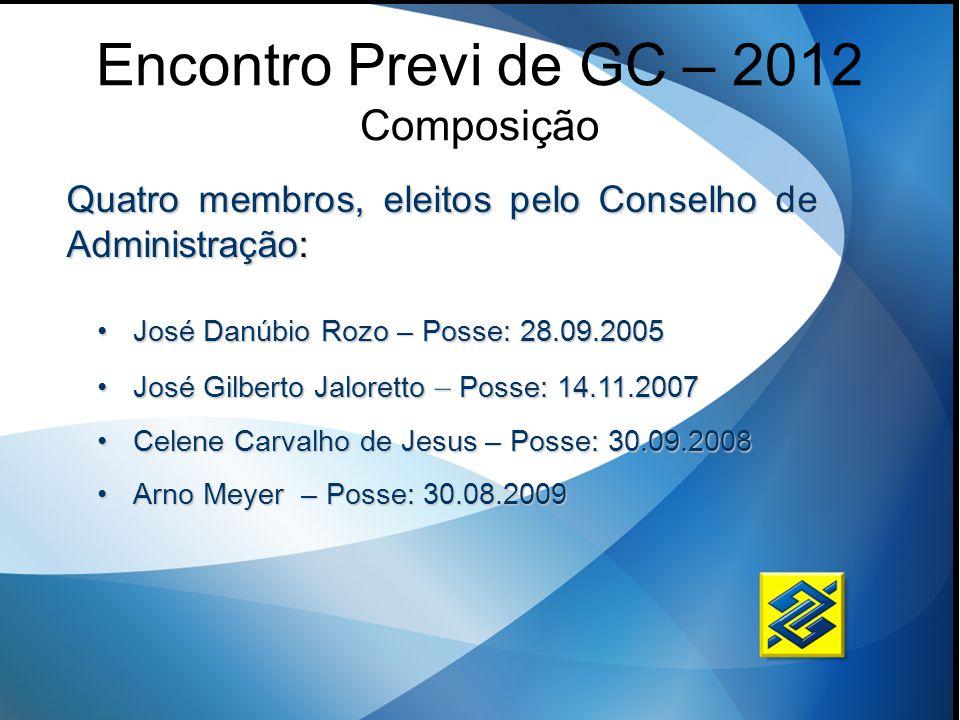 Encontro Previ de GC – 2012 Composição