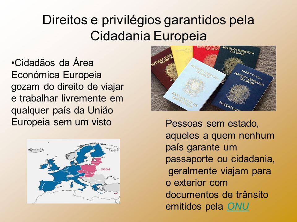 Direitos e privilégios garantidos pela Cidadania Europeia