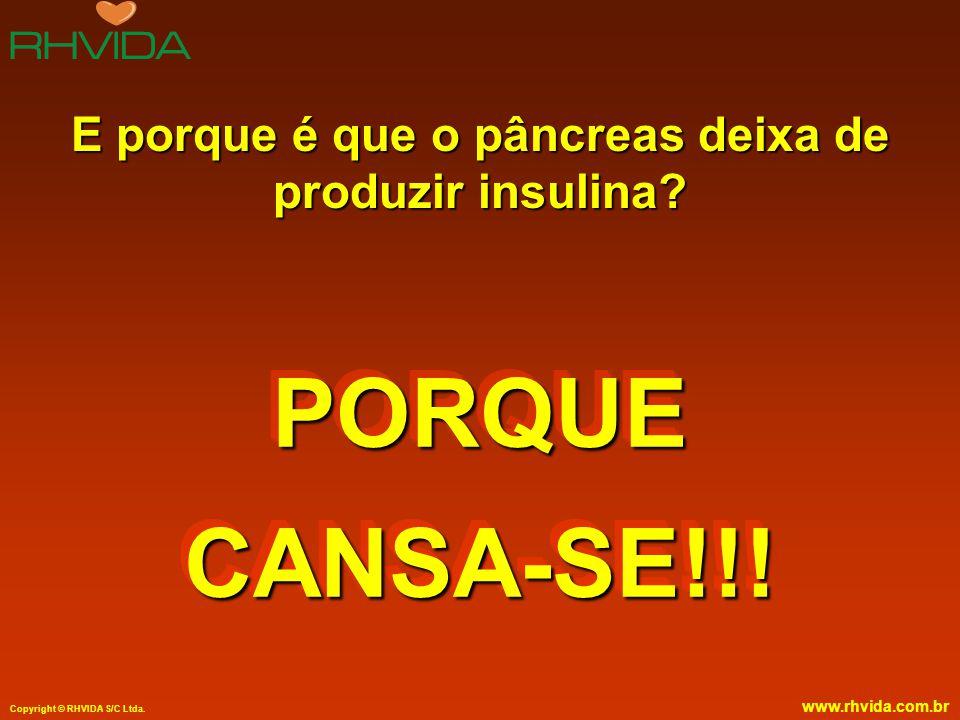 E porque é que o pâncreas deixa de produzir insulina