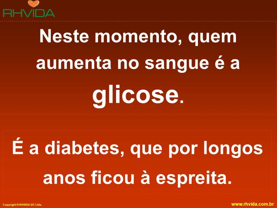 Neste momento, quem aumenta no sangue é a glicose.