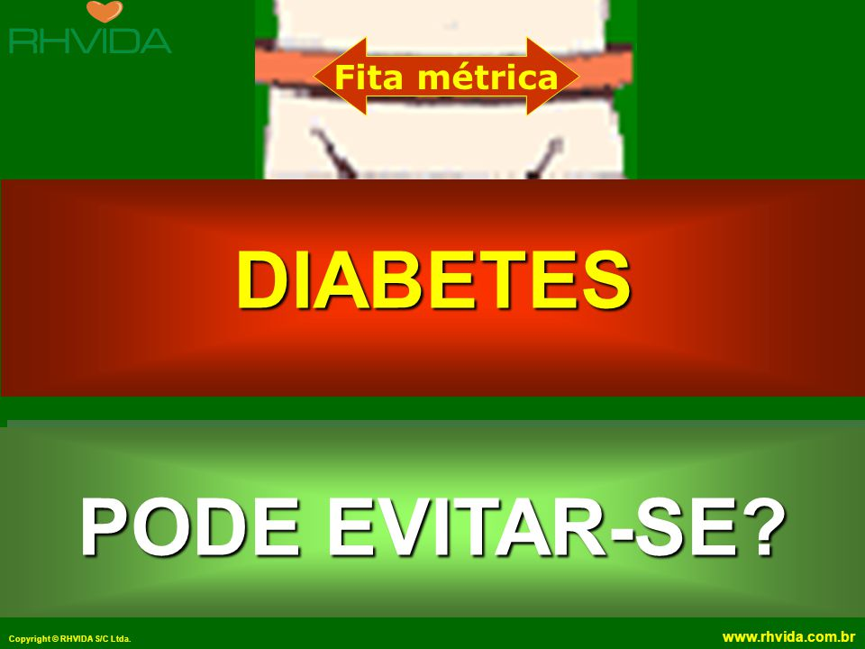 DIABETES PODE EVITAR-SE