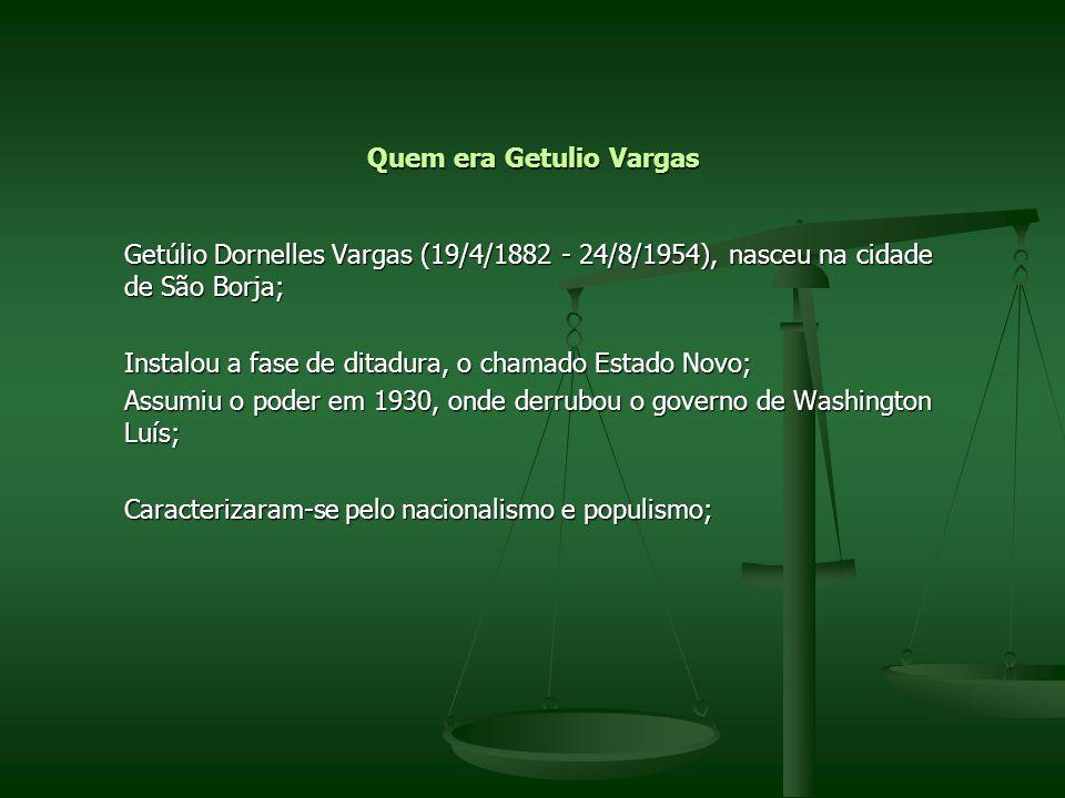 Quem era Getulio Vargas