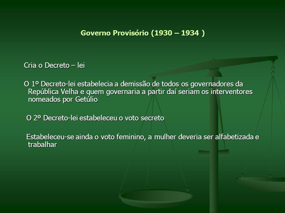 Governo Provisório (1930 – 1934 )
