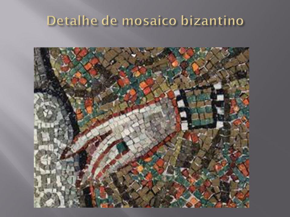 Detalhe de mosaico bizantino