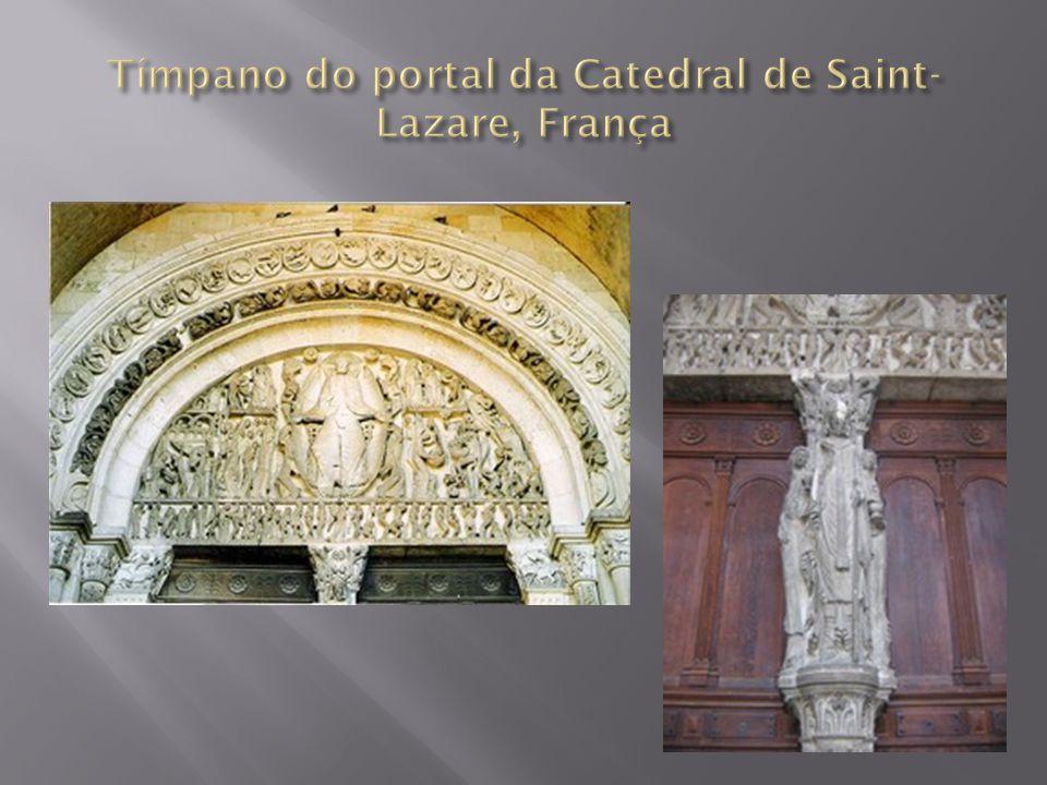 Tímpano do portal da Catedral de Saint-Lazare, França