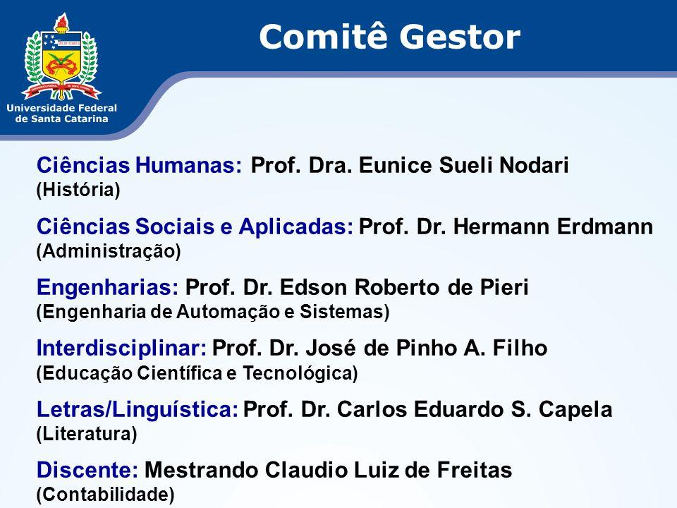Comitê Gestor Ciências Humanas: Prof. Dra. Eunice Sueli Nodari