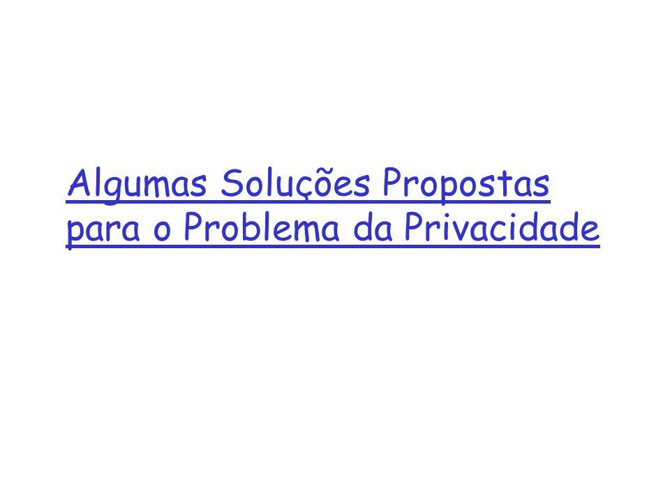 Algumas Soluções Propostas para o Problema da Privacidade