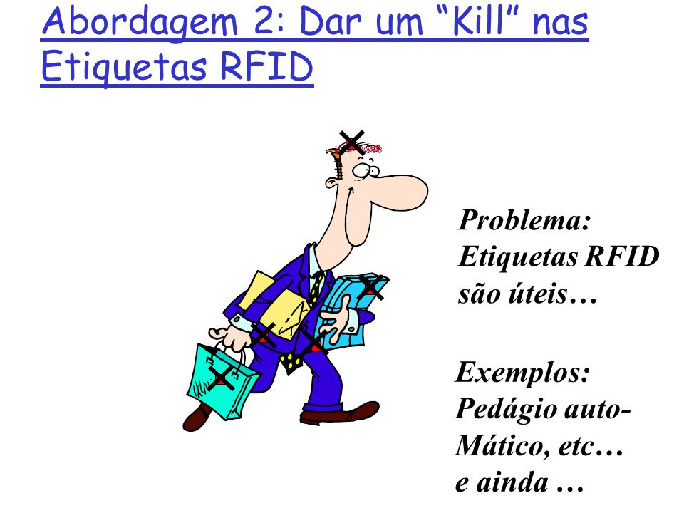 Abordagem 2: Dar um Kill nas Etiquetas RFID