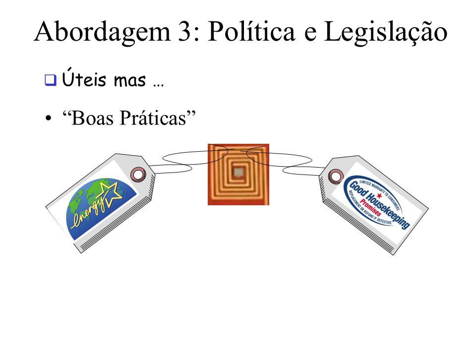 Abordagem 3: Política e Legislação
