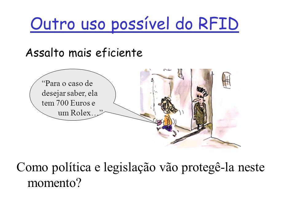 Outro uso possível do RFID