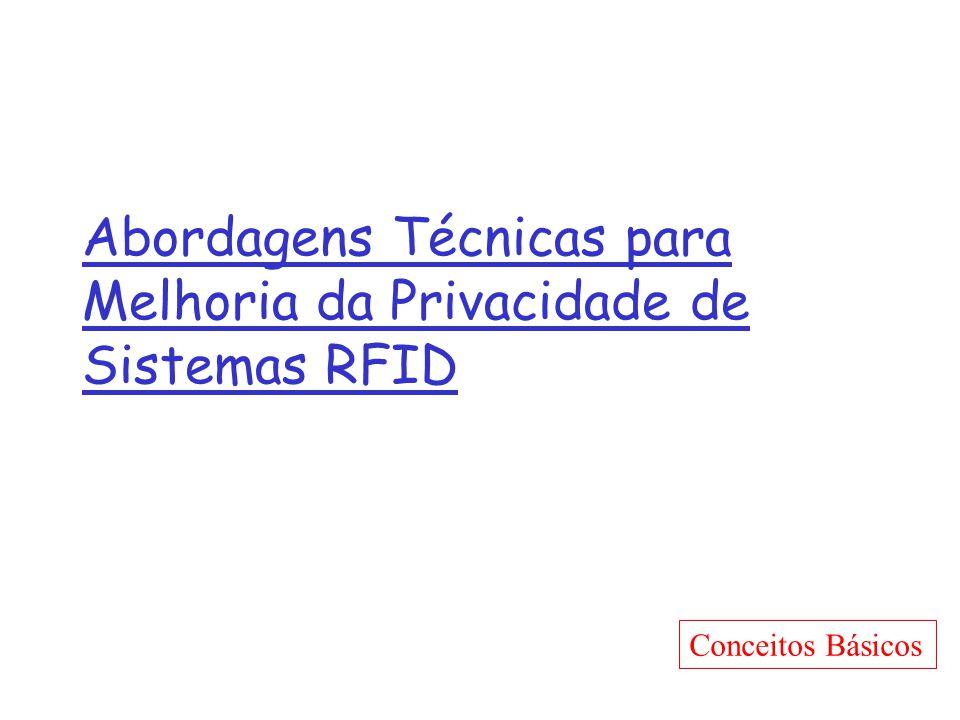 Abordagens Técnicas para Melhoria da Privacidade de Sistemas RFID