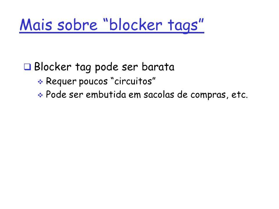 Mais sobre blocker tags