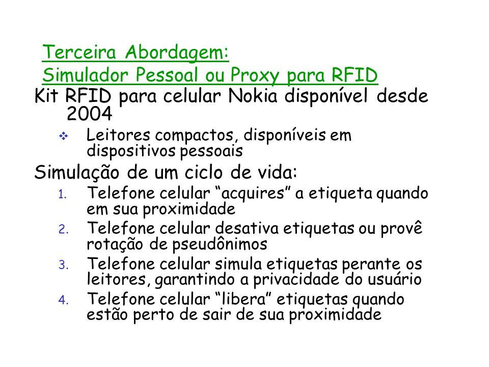 Terceira Abordagem: Simulador Pessoal ou Proxy para RFID