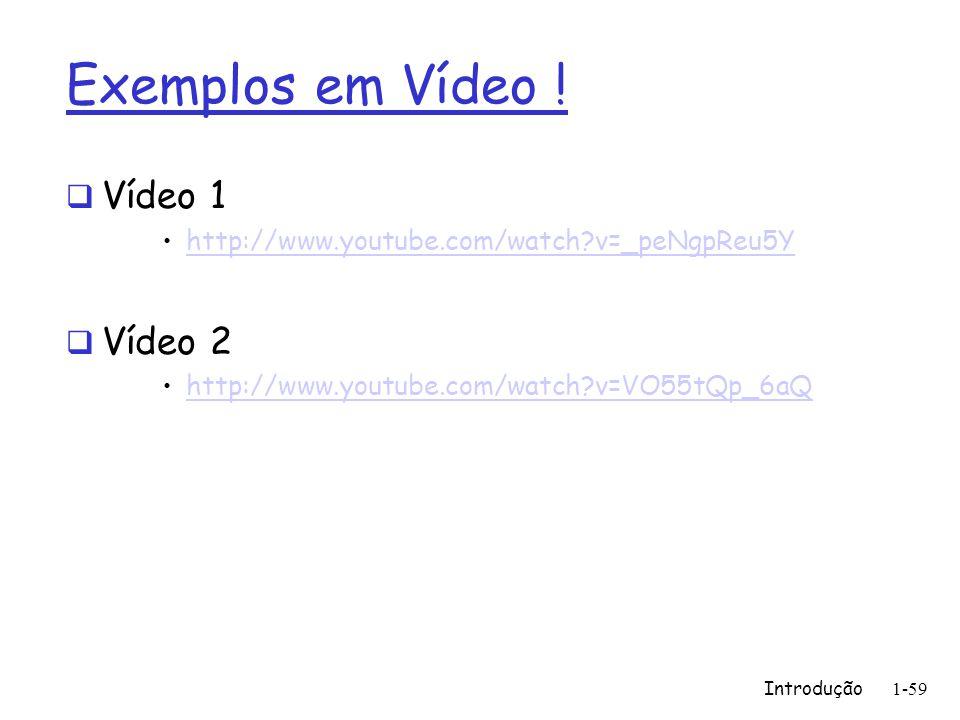 Exemplos em Vídeo ! Vídeo 1 Vídeo 2