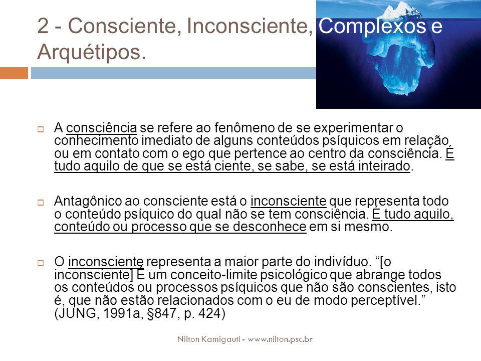 2 - Consciente, Inconsciente, Complexos e Arquétipos.