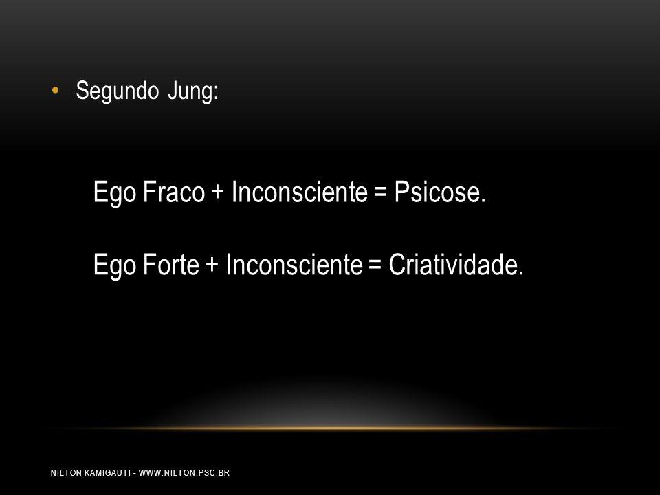 Ego Fraco + Inconsciente = Psicose.