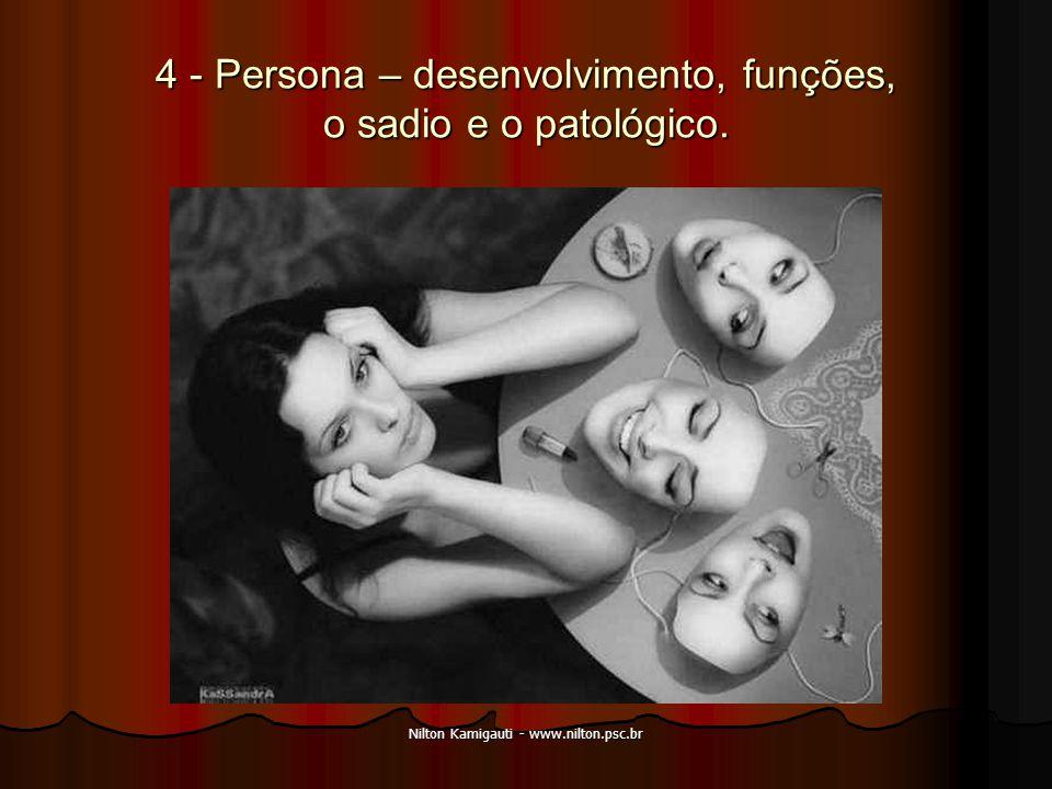 4 - Persona – desenvolvimento, funções, o sadio e o patológico.