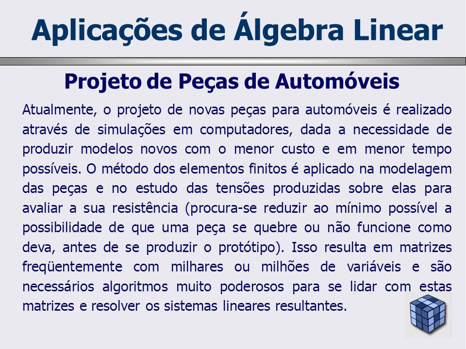 Aplicações de Álgebra Linear Projeto de Peças de Automóveis