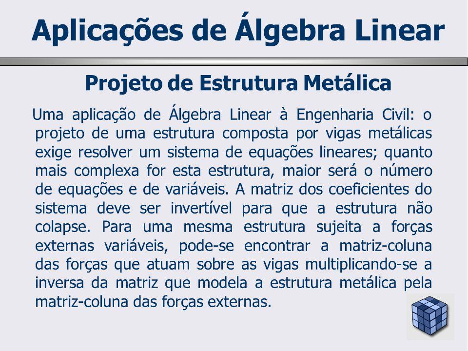 Aplicações de Álgebra Linear Projeto de Estrutura Metálica