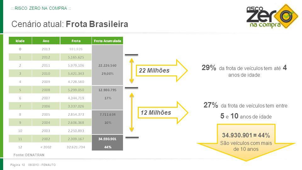 Cenário atual: Frota Brasileira