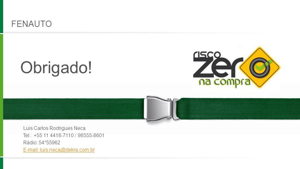 Obrigado! FENAUTO Luis Carlos Rodrigues Neca