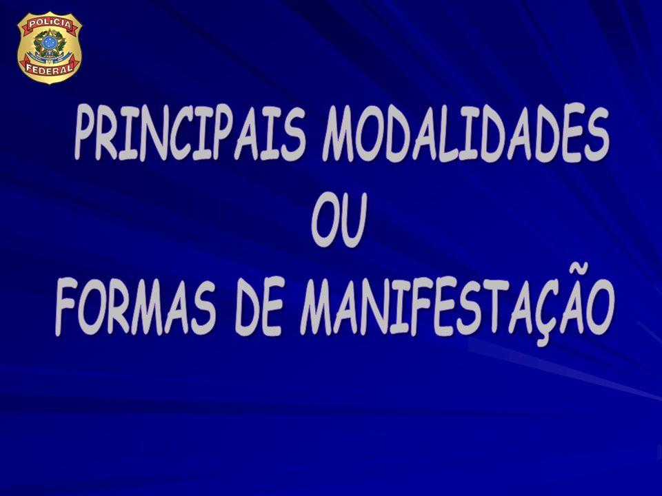 PRINCIPAIS MODALIDADES FORMAS DE MANIFESTAÇÃO