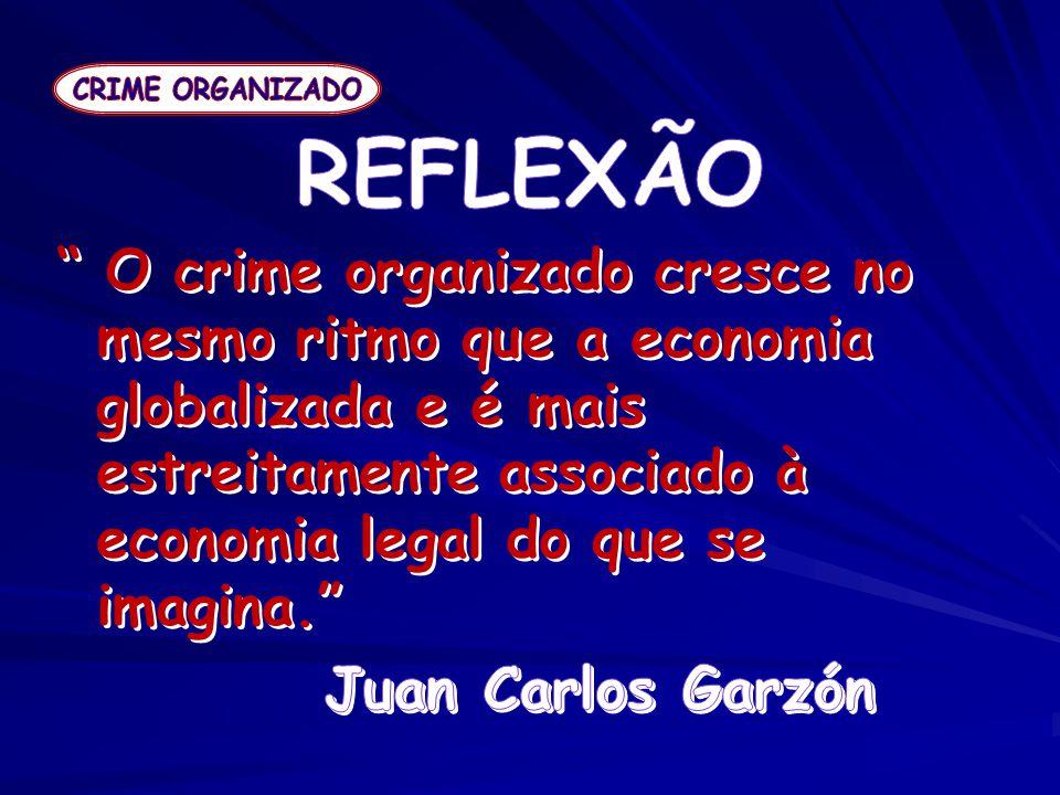CRIME ORGANIZADO REFLEXÃO.