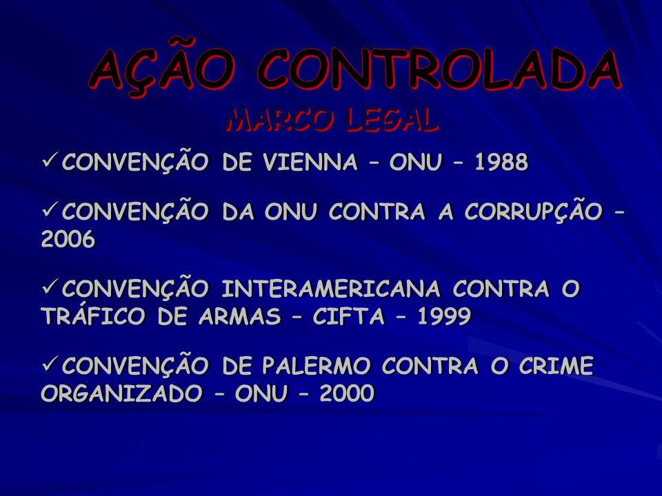 AÇÃO CONTROLADA MARCO LEGAL CONVENÇÃO DE VIENNA – ONU – 1988