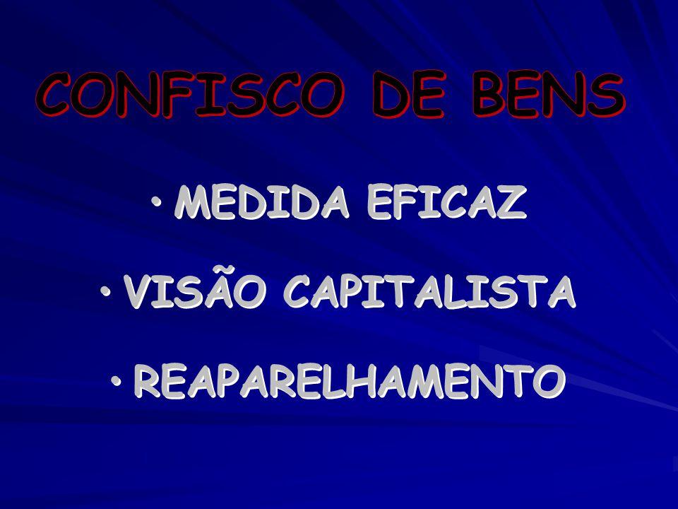 CONFISCO DE BENS MEDIDA EFICAZ VISÃO CAPITALISTA REAPARELHAMENTO
