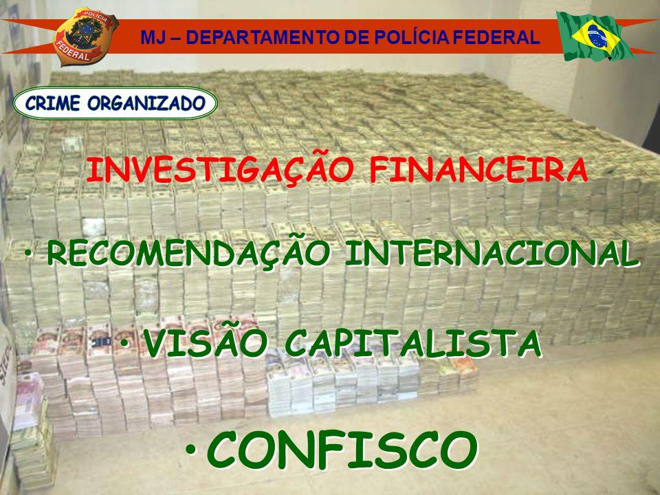 INVESTIGAÇÃO FINANCEIRA RECOMENDAÇÃO INTERNACIONAL