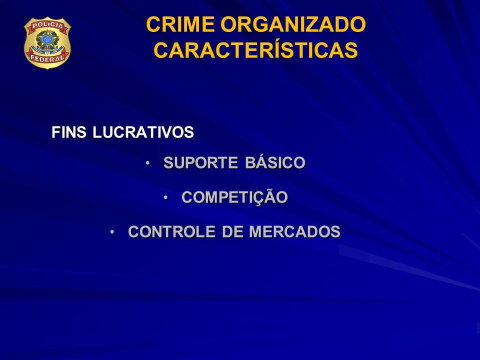 CRIME ORGANIZADO CARACTERÍSTICAS