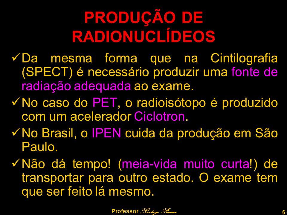 PRODUÇÃO DE RADIONUCLÍDEOS