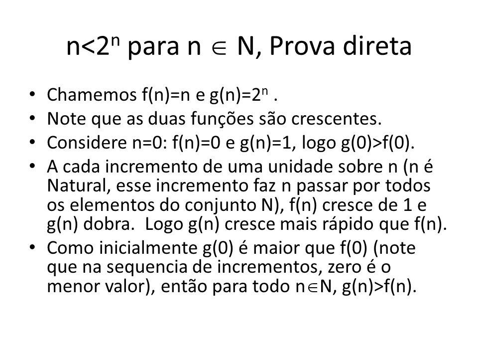n<2n para n  N, Prova direta