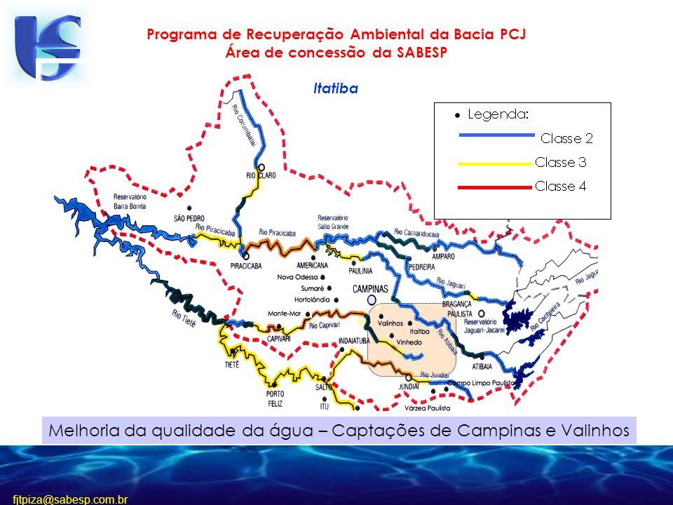Melhoria da qualidade da água – Captações de Campinas e Valinhos