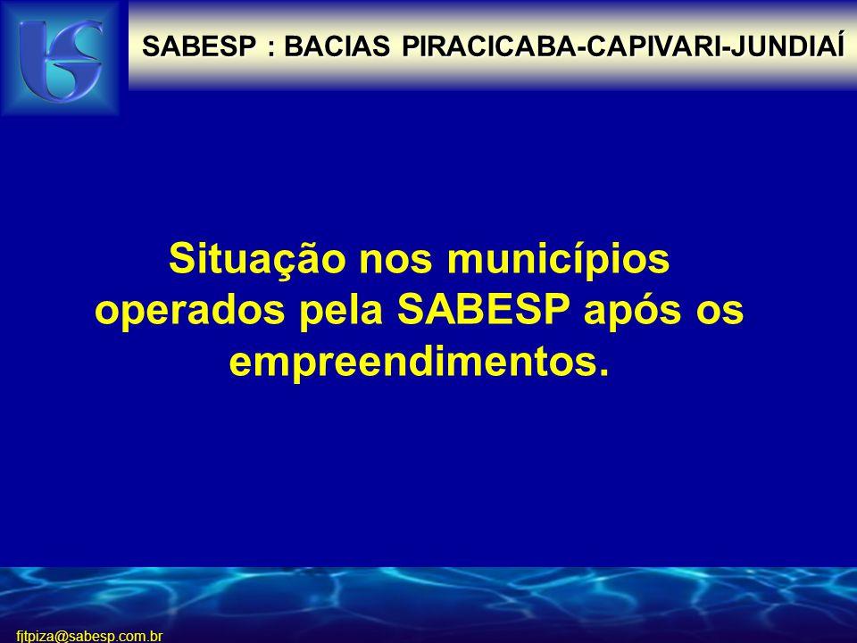 Situação nos municípios operados pela SABESP após os empreendimentos.