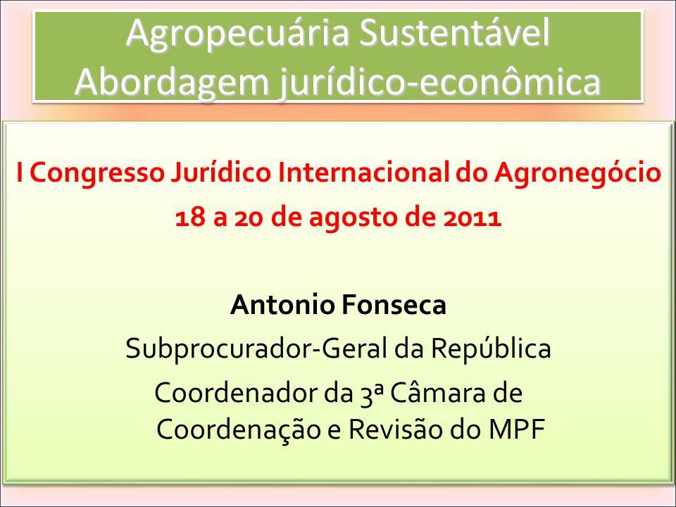 Agropecuária Sustentável Abordagem jurídico-econômica