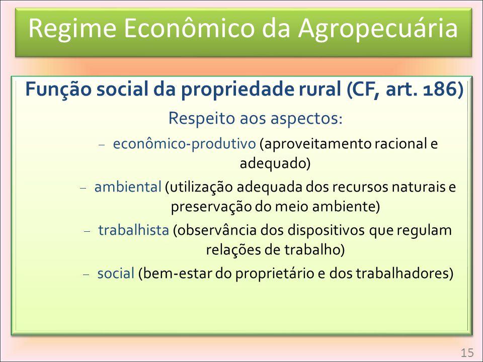Função social da propriedade rural (CF, art. 186)