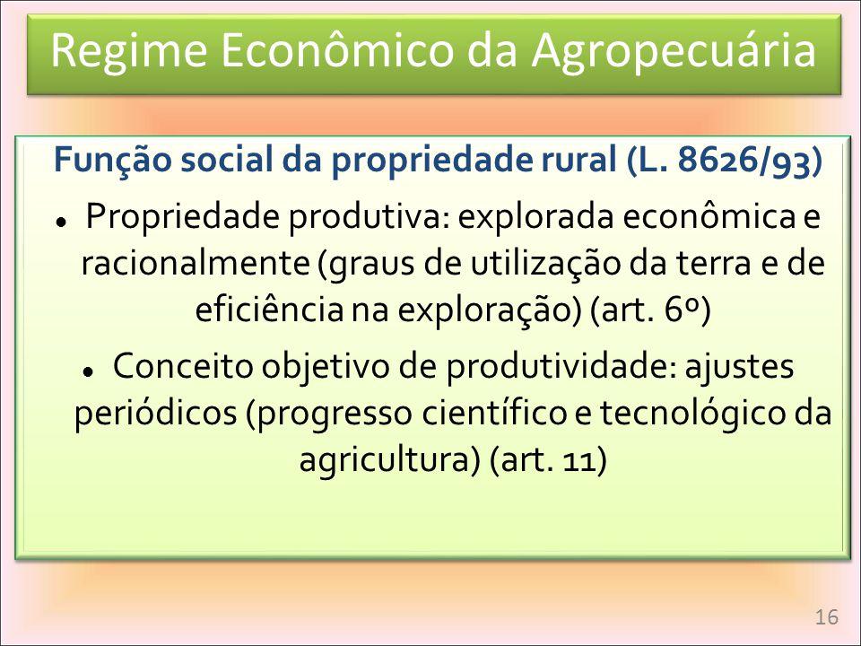 Função social da propriedade rural (L. 8626/93)