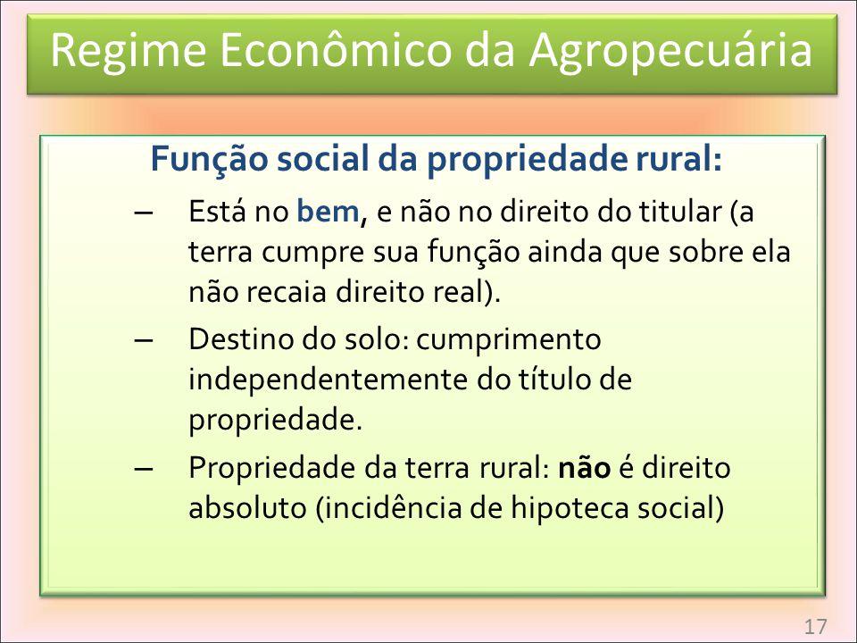 Função social da propriedade rural: